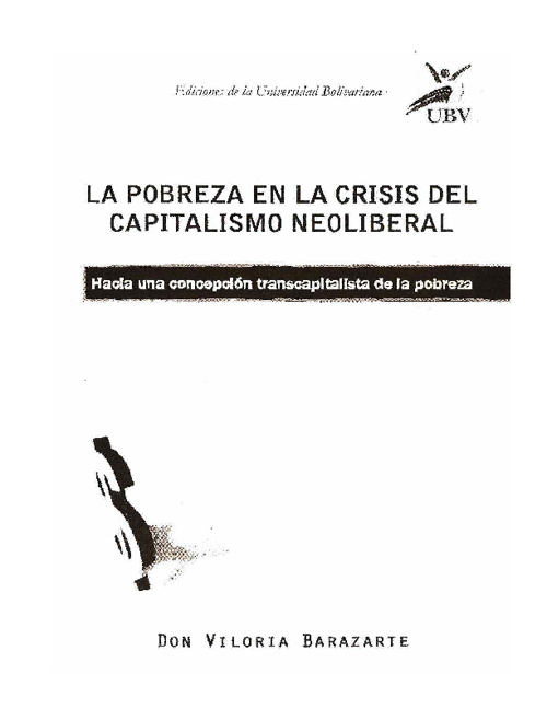 LA POBREZA EN LA CRISIS DEL CAPITALISMO NEOLIBERAL