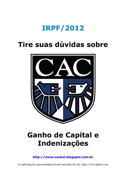 IR 2012 - Ganho de Capital e Indenizações