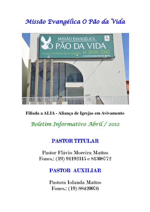 Boletim Informativo Abril de 2012