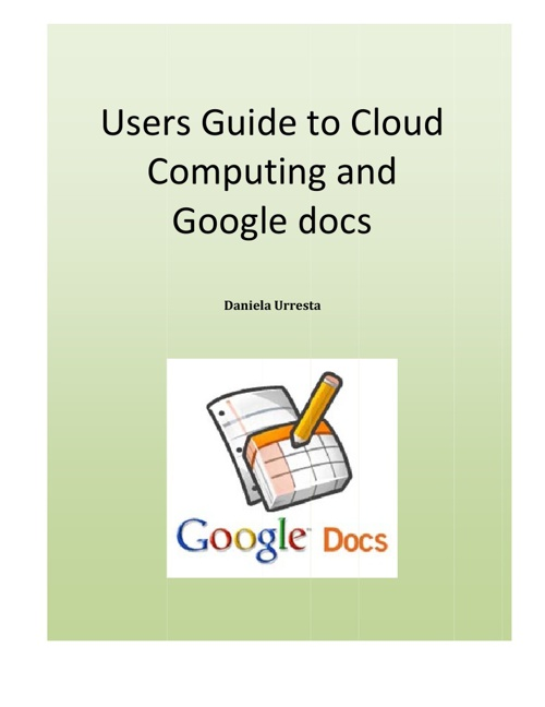 Google Drive computing and cloud guide