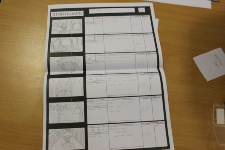 Storyboards (L'espirit Noir)