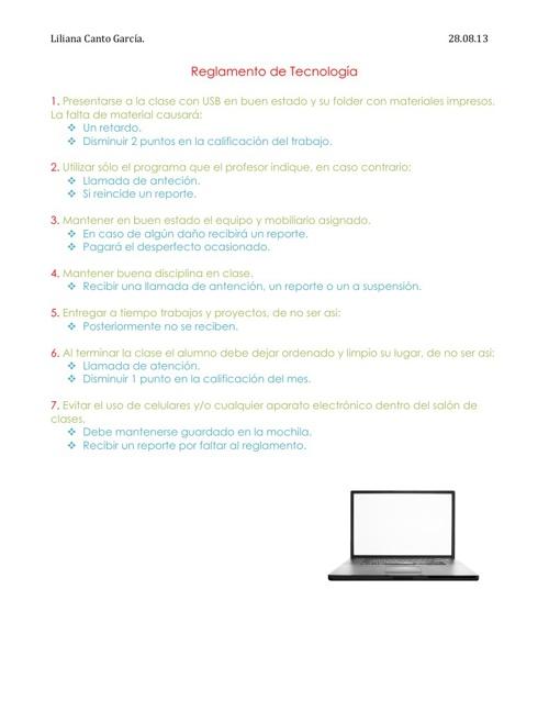 Reglas de tecnología