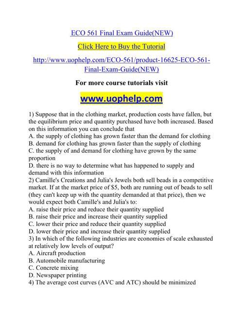 ECO 561 Squared Instruction Uophelp
