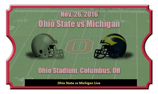 Ohio State vs Michigan Live