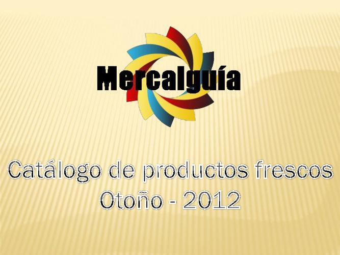 Catálogo de productos frescos otoño 2012