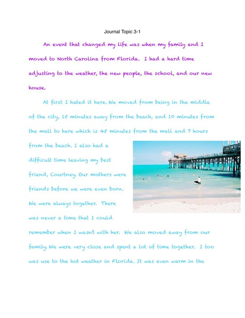 Journal Book 3- Kinsley Buchanan