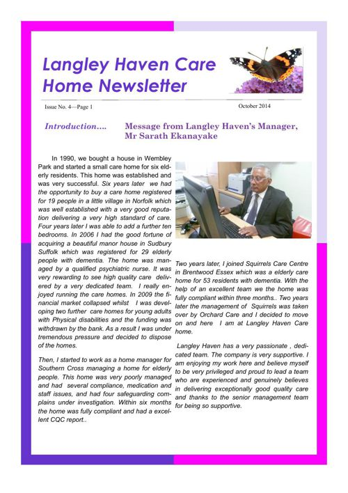 Newsletter April  15