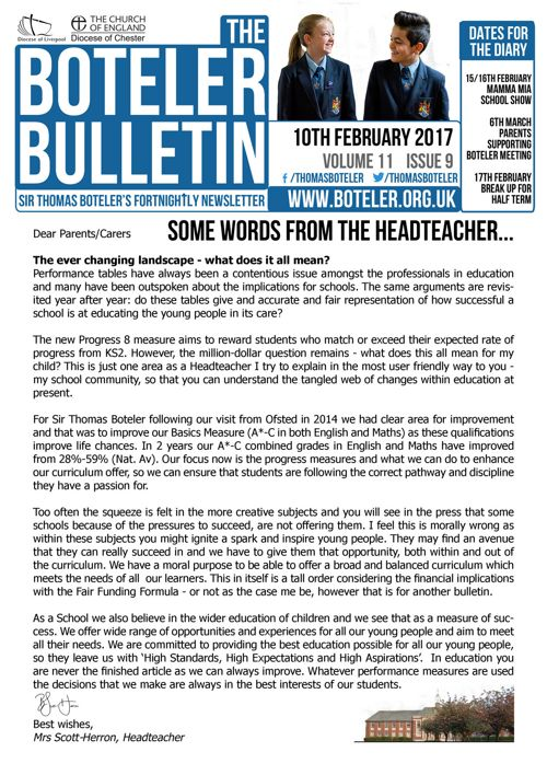 Boteler Bulletin 10th February 2017