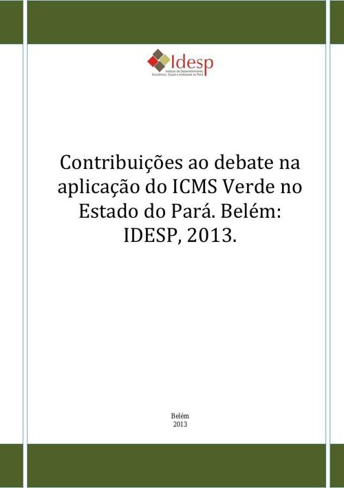 ICMS_Ecológico_do_Estado_do_Pará_