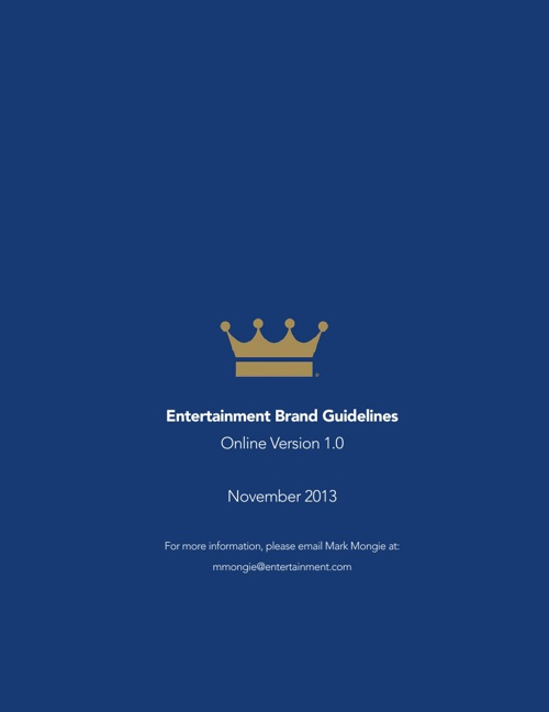 Entertainment Brand Guidelines