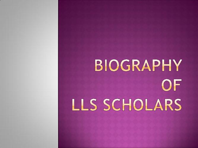 LLS Scholars