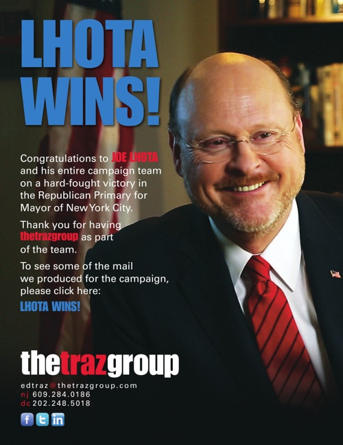 Lhota for Mayor Primary Mail