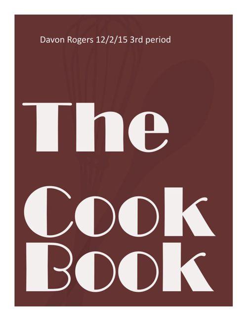 davon's cook book
