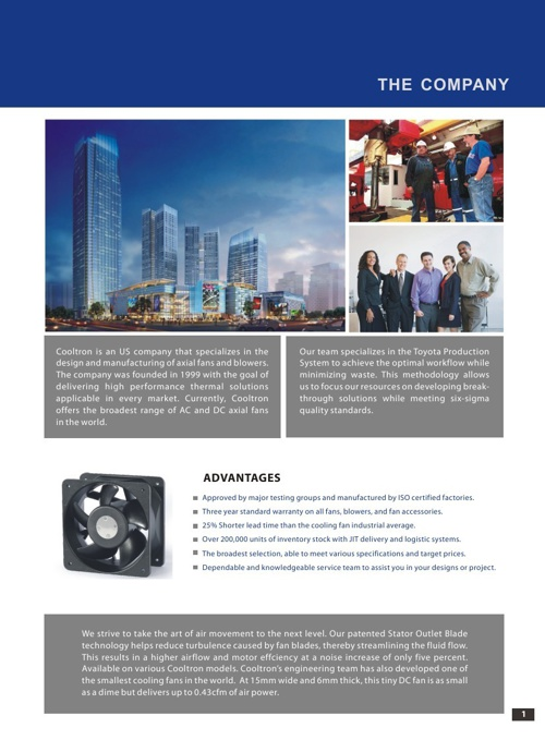 Cooltron Cooling Products from United Components Distribution