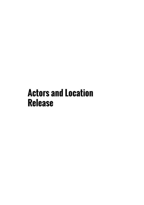Actor and Location Release