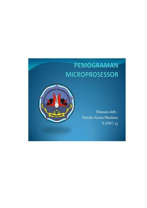 Pemrograman Mikroprosessor