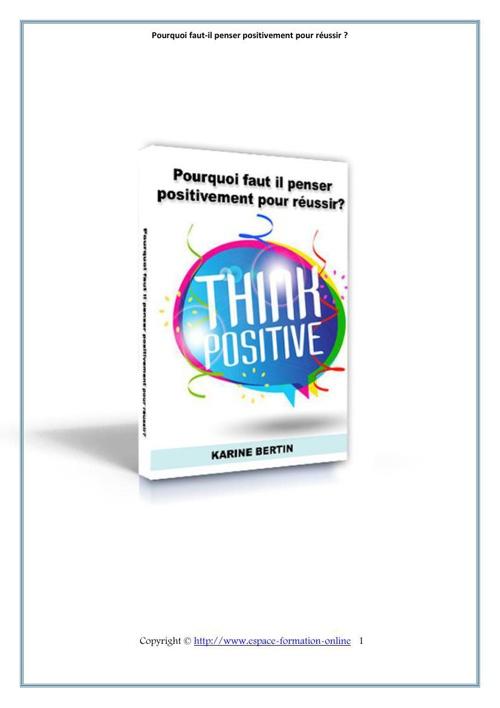 pourquoi faut il penser positivement pour réussire