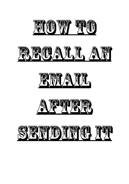 How to Recall An Email