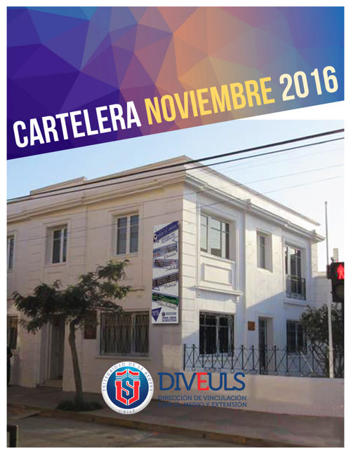 CARTELERA NOVIEMBRE 2016