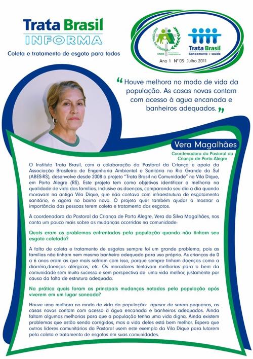 3ª Edição do Boletim Trata Brasil / Pastoral da Criança