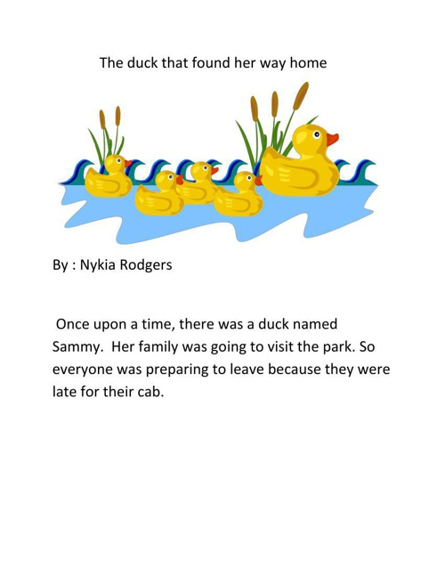 The duck that found her way home by nykia rodgers