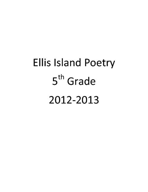 Ellis Island Poetry