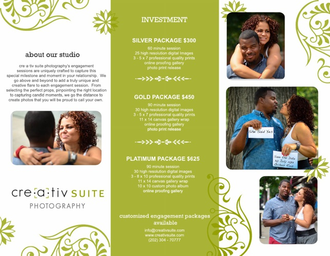engagement session brochure