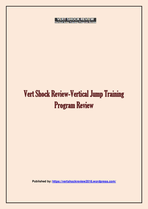 Vert Shock Review-Vertical Jump Training Program Review