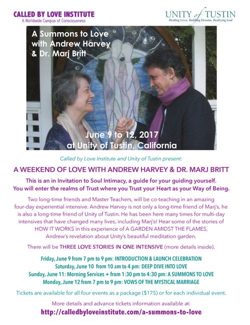 A Summons to Love with Andrew Harvey and Marj Britt at UoT