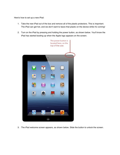 Setting up your iPad tutorial