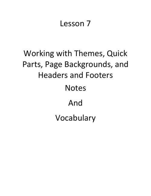 Word Notebook
