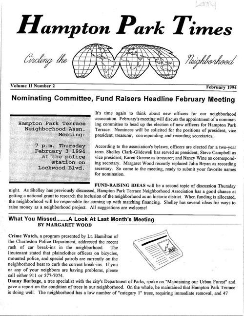 HPT Newsletter February 1994