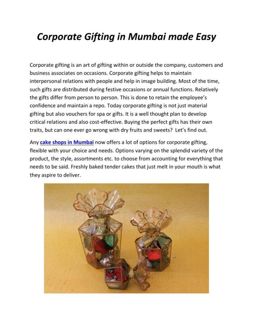 Corporate Gifting in Mumbai made Easy