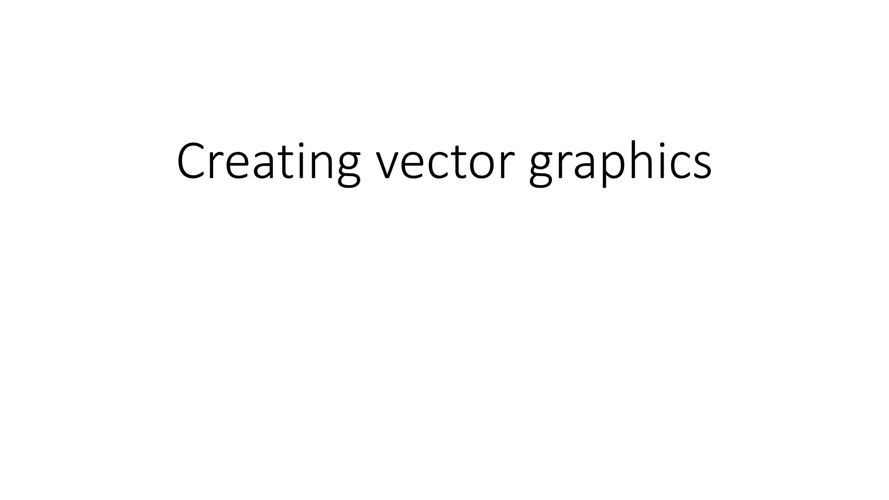 Creating vector graphics