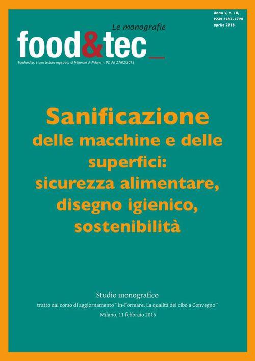 Monografia Sanificazione