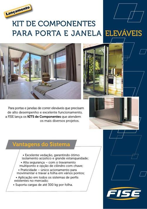 KIT DE COMPONENTES PARA PORTA E JANELA ELEVÁVEIS