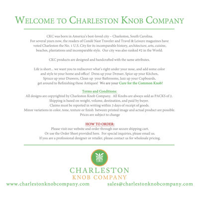 Charleston Knob Company Catalog - November 2015