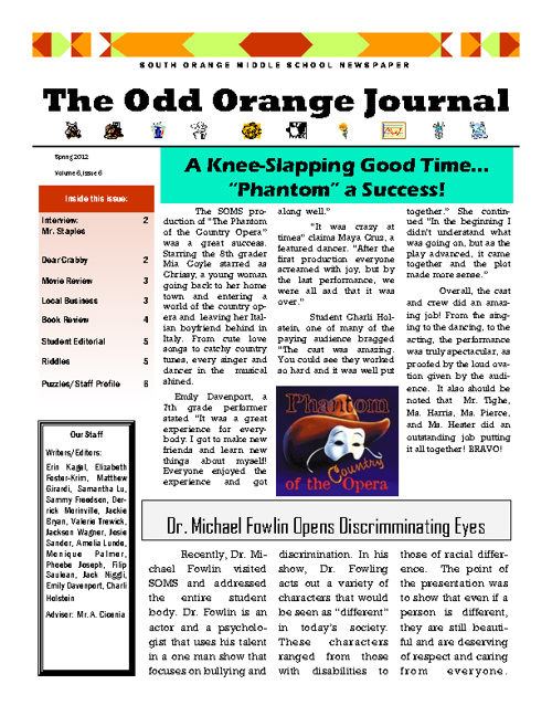 Spring Edition Odd Orange Journal