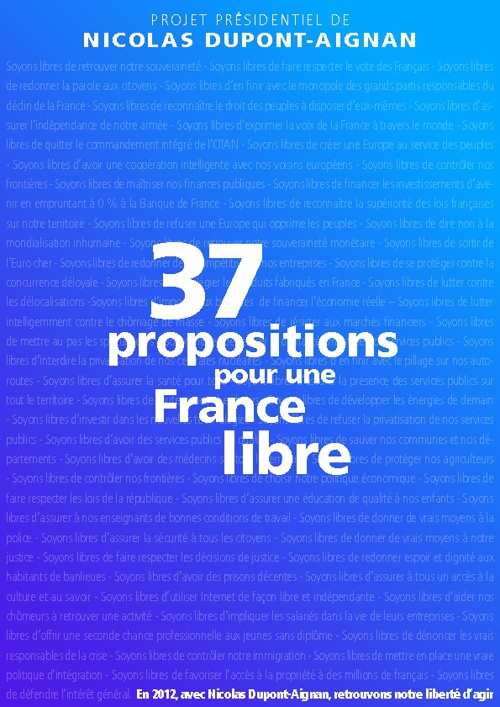 DLR - 37 propositions