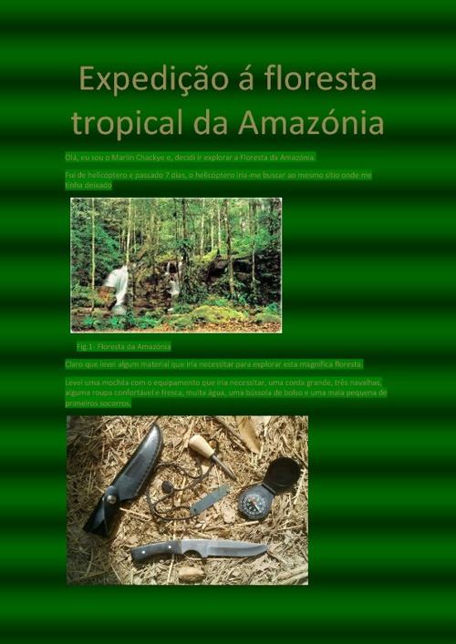 Expedição á Floresta Tropical da Amazónia