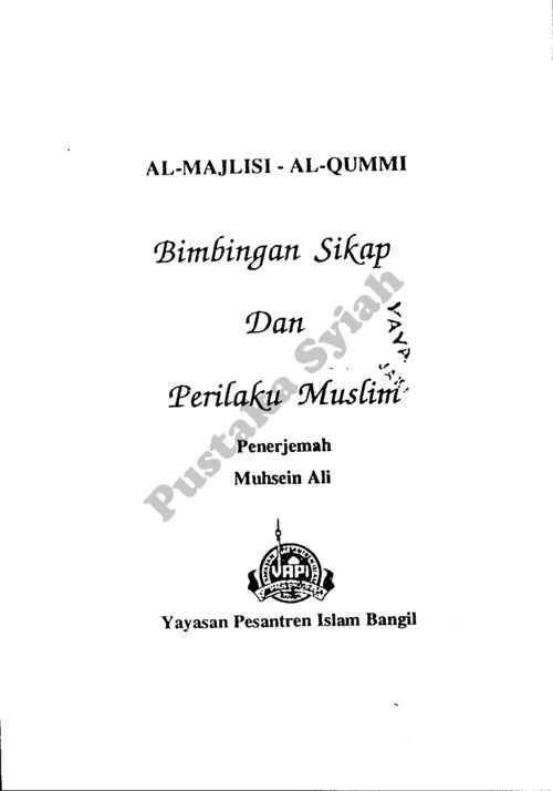 Bimbingan Sikap dan Perilaku Muslim
