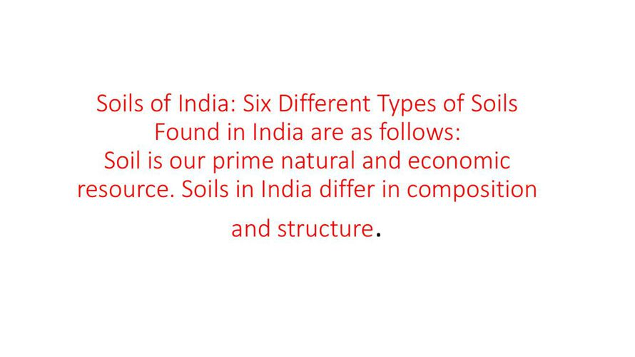 rich soils of india