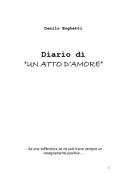 Danilo Bughetti - Diario di un Atto d'Amore