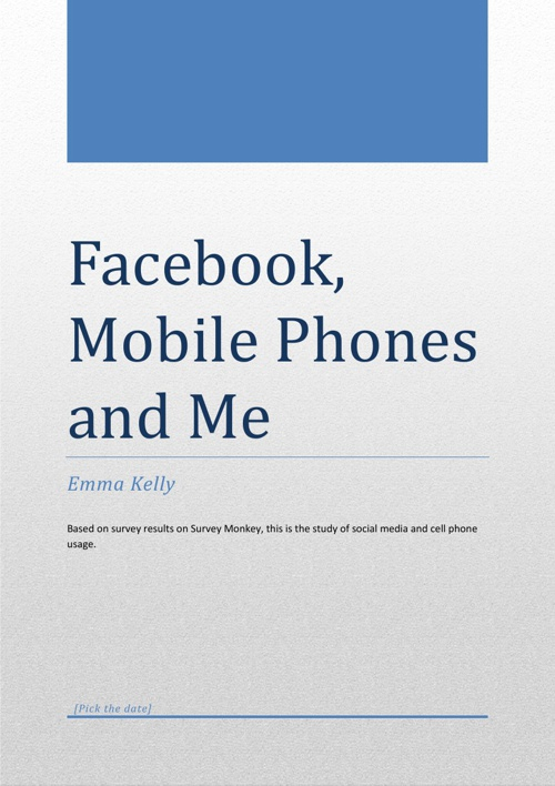 Facebook, Mobile Phones and me