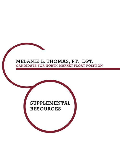Dr. Melanie Thomas Supplemental Resources - North Market Float P
