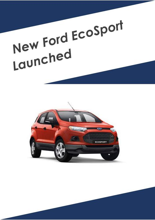 New Ford EcoSport Launched