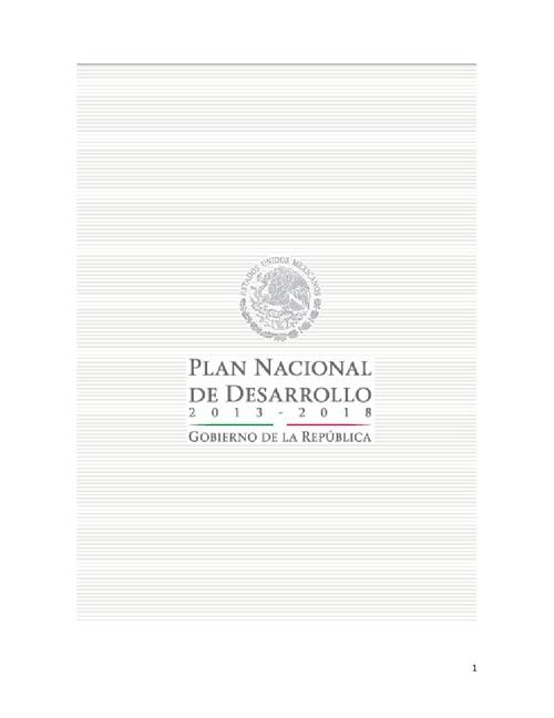 Plan Nacional de Desarrollo. Salud