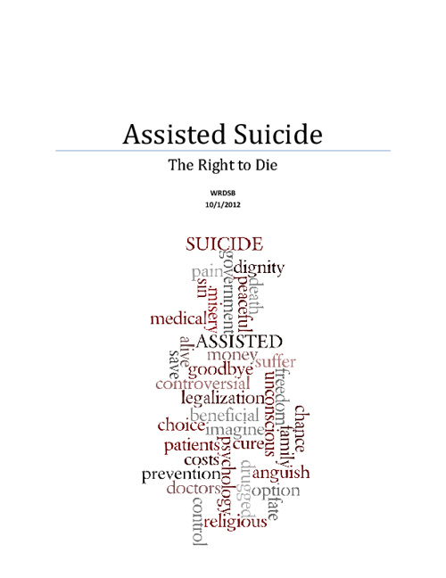 Assisted Suicide - Essay
