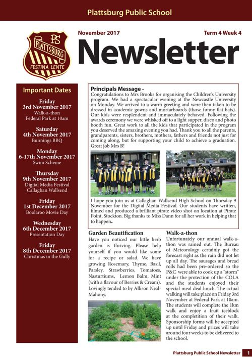2017 Term 4 Week 4 Newsletter