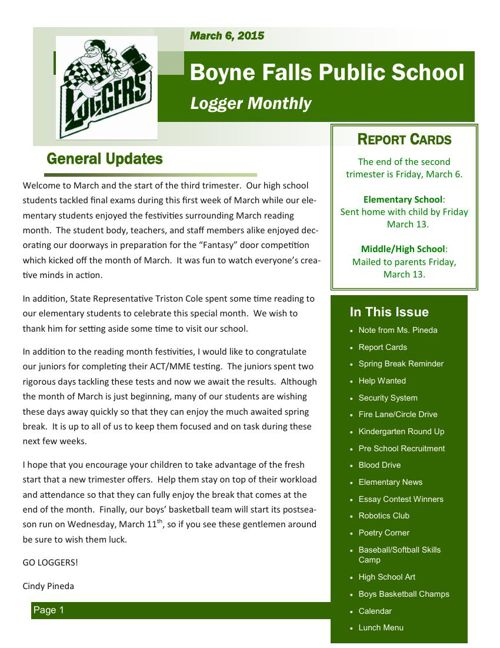 March 6, 2015 Logger Monthly